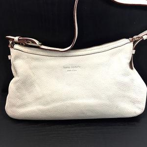 ♠ kate spade Cream Pebbled Leather Shoulder Bag ♠